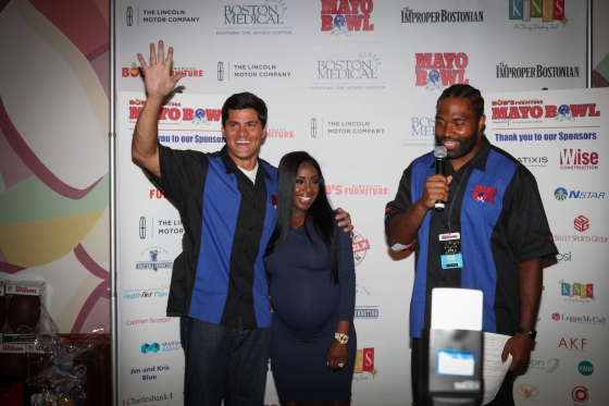 Tedy Bruschi with Chantel and Jerod