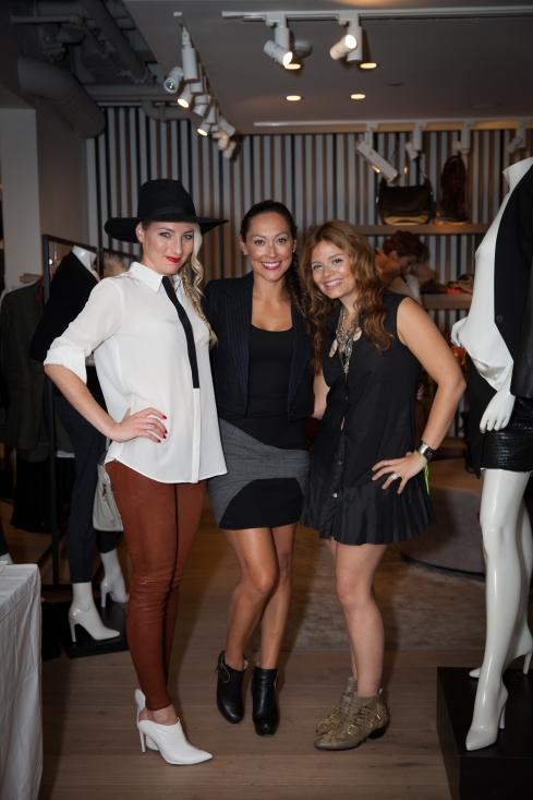 Alisa Kapinos, Jessica Diaz & Intermix Store Manager. Carina Donoso.