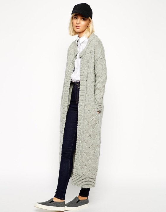 Asos Basketweave Cardigan