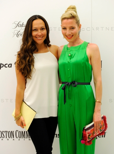 Stella McCartney event at Saks Fifth Avenue (Boston, MA, 05/05/15) Jessica Diaz, left, and Alisa Kapinos are seen during a Massachusetts Society for the Prevention of Cruelty to Animals (MSPCA) cocktails with Stella McCartney at Saks Fifth Avenue in Boston on Tuesday, May 05, 2015. Staff photo by Christopher Evans