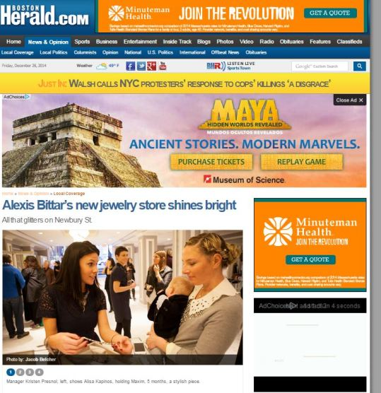Alexis Bittar Event, Boston Herald