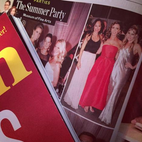 The MsFits in Boston Magazine at the MFA Summer Gala with newscaster, J.C. Monahan.