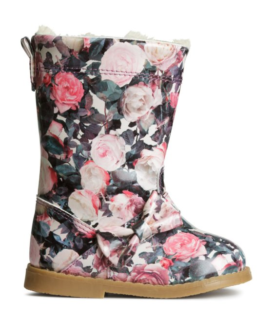 Floral Lined Boots