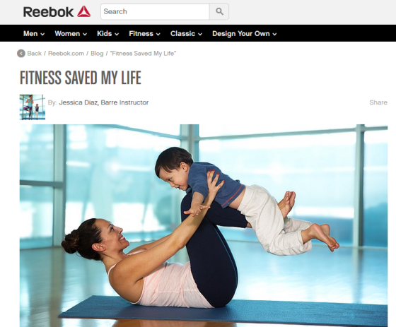 "Reebok Feature ""Fitness Saved My Life""."