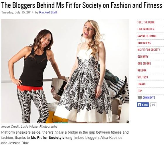 The Bloggers Behind Ms Fit for Society by Racked.