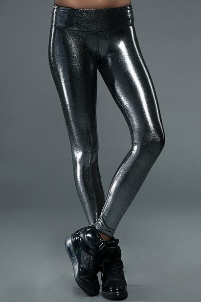 Leatherback Leggins in Chrome Gloss by Carbon38,  $135