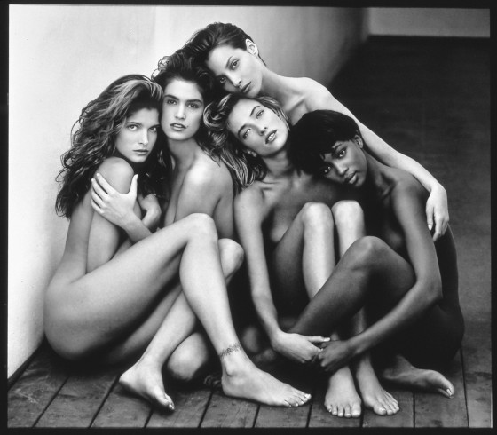Stephanie, Cindy, Christy, Tatjana, Naomi, Hollywood, 1989