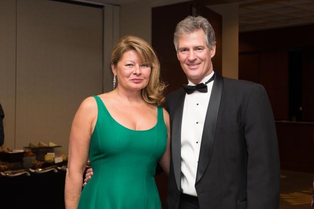 Gail Huff and Scott Brown