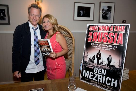 Ben Mezrich and NECN Meteorologist, Nelly Carreno
