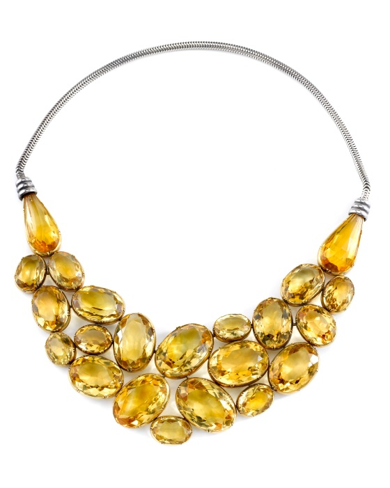 Neil's Collection~Suzanne Belperron Gold and Citrine Necklace