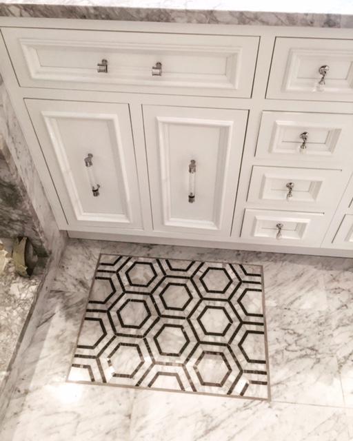 """A marble """"bath mat"""""""